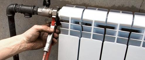aansluiten cv leiding radiator
